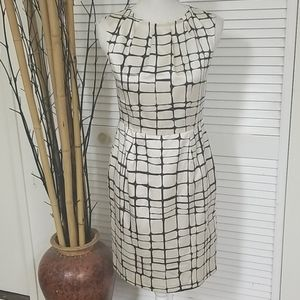 Banana Republic Beige and Black Sleeveless Dress